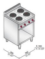 Плита электрическая Bertos E6P4M (БН)