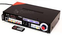 Стерео усилитель UKC KA-123 Karaoke, 2 по 50 Вт, 8 Ом.