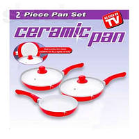 """Набор керамических сковород """"Ceramic pan"""" 3 шт., фото 1"""