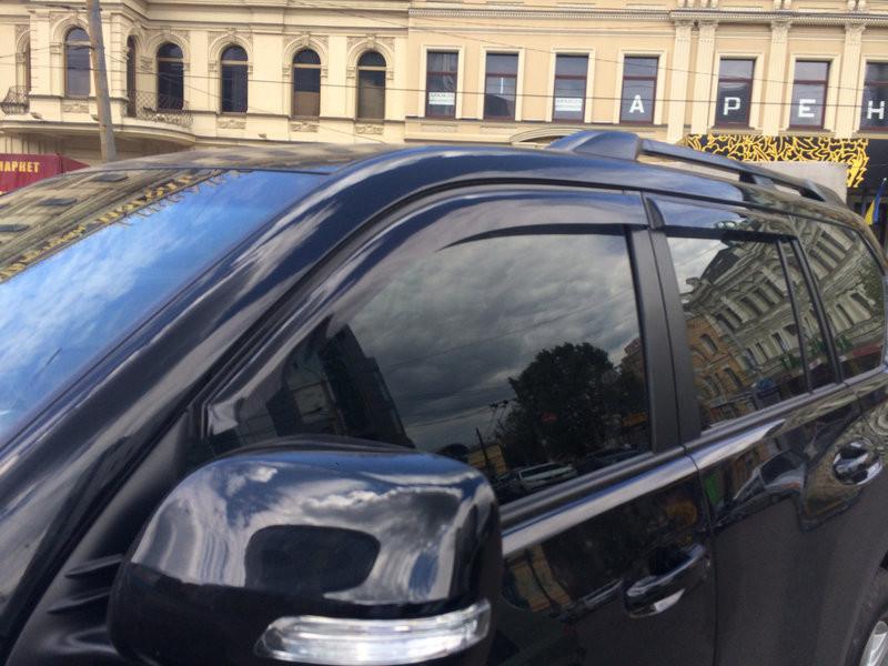 """Дефлектори дверей (вітровики) Toyota Land Cruiser Prado 150 5d 2009-2014;2014 деф.вікон """"CT"""""""