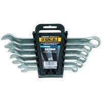Ключи рожково-накидные 6шт 8-17мм CrV satine