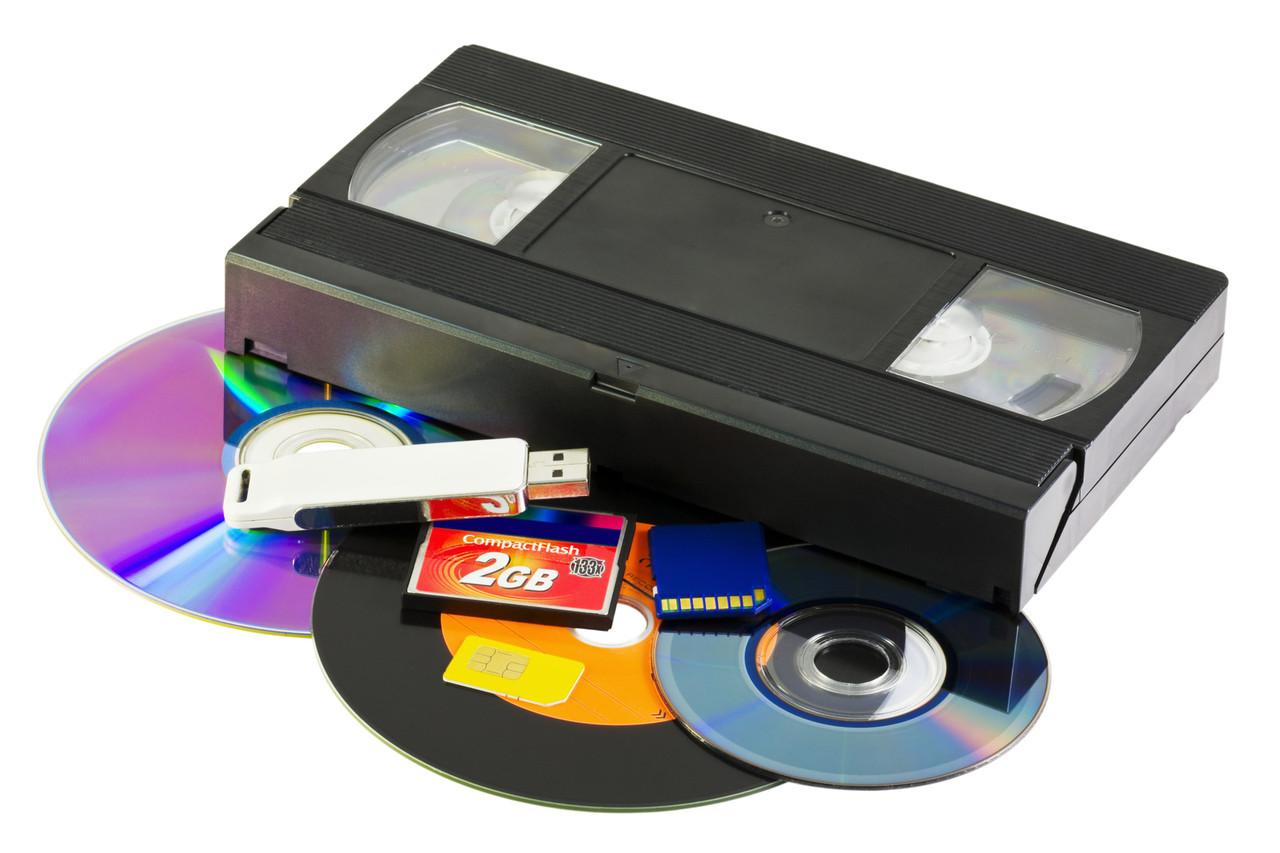 Перезапись с видеокассет на диск