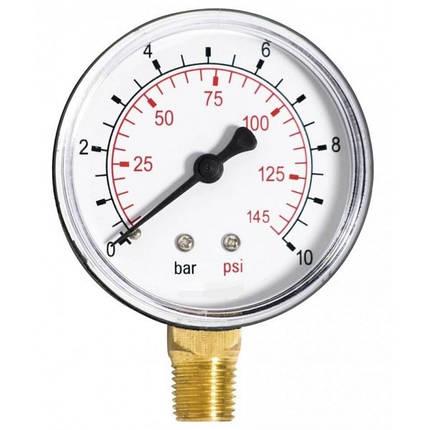 Манометр радіальний 100мм/0-10 бар (Італія), фото 2