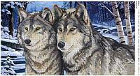 """Схема для часткової вишивки""""Вовки"""" D-54"""