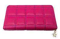 Кошелек - клатч женский из искусственной кожи (розовый)