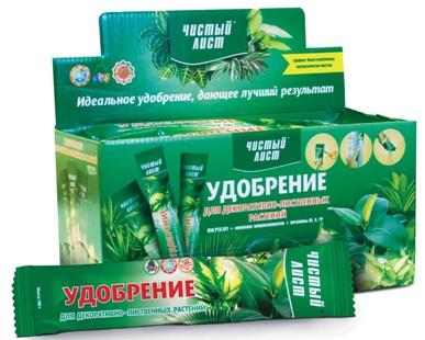 """Добриво в стіках """"Чистий аркуш"""" для декоративно-листяних рослин, 100г"""