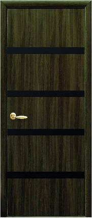 Модель Нота ЭКОШПОН черное стекло межкомнатные двери, Николаев, фото 2