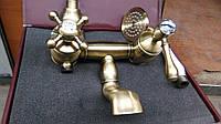 Смеситель Kern для ванны 3024 Bronze Swarovski,цвет бронза,ретро стиль ,камень сваровски
