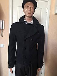 Пальто мужское короткое двубортное серое черное Antony Morato