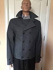 Пальто мужское короткое двубортное серое черное Antony Morato, фото 2