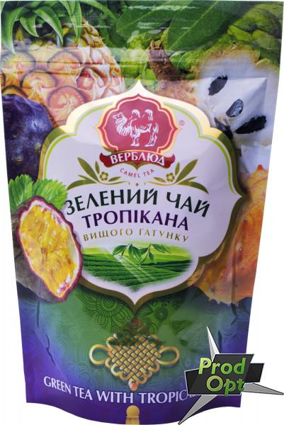 Чай зелений Верблюд з тропічними фруктами 80г м/у