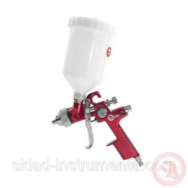 HVLP RED PROF Краскораспылитель 1,4 мм, верхний пластиковый бачок 600 мл