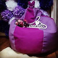 Малиново-розовое кресло-мешок груша 120*90 см из микророгожки