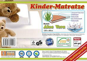 Акционная цена детского матраса KINDER RICH Aloe Vera 120*60 (к/PU/к/ж а) 610грн! , фото 3