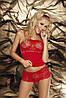 Романтический набор маечка + трусики-шортики Dafne Dkaren (ДиКарен) молочный, красный, черный