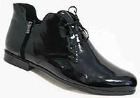 Большие размеры кожаные ботинки весна женские, обувь кожаная размера 40-44 от производителя модель МИ5245-5