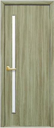 Модель Глорія ЕКОШПОН сандалового дерева зі склом сатин міжкімнатні двері, Миколаїв, фото 2