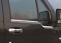Ford Connect 2006-2009 гг. Наружняя окантовка стекол (2 шт, нерж.) Carmos - Турецкая сталь