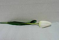 Цветы искусственные-167. Тюльпан белый, 30см