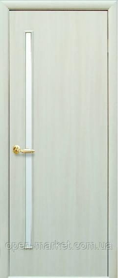 Модель Глория ЭКОШПОН ДУБ ЖЕМЧУЖНЫЙ со стеклом сатин межкомнатные двери, Николаев