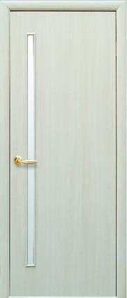 Модель Глория ЭКОШПОН ДУБ ЖЕМЧУЖНЫЙ со стеклом сатин межкомнатные двери, Николаев, фото 2
