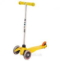 Самокат с прозрачными колесами Mini Micro Gelb (Мини Микро желтый), фото 1