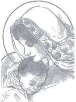 """Схема для часткової вишивки """"Мадонна з немовлям"""" БА-3008"""