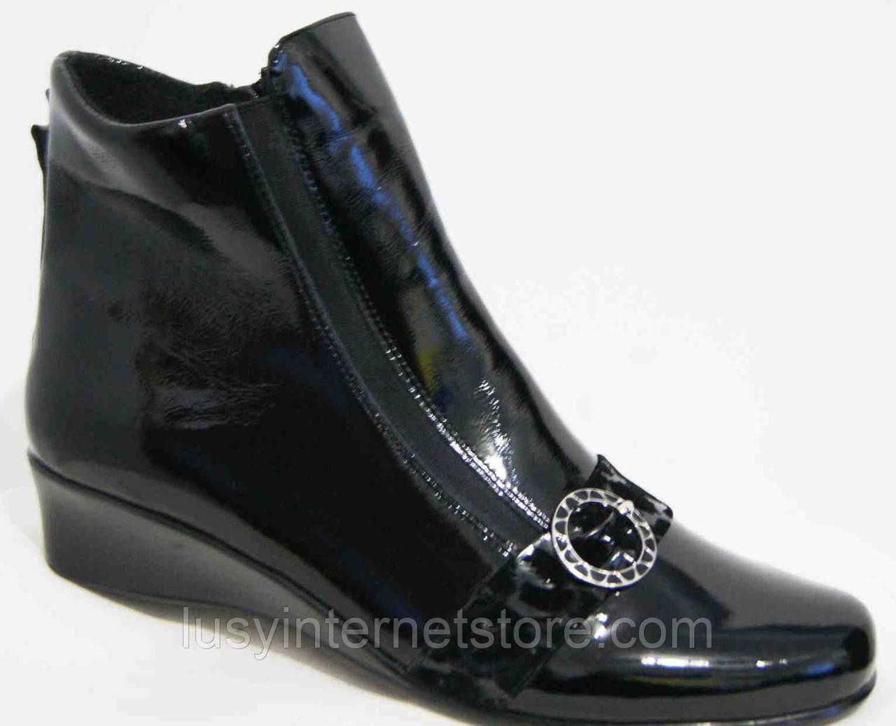 Кожаные ботинки большие размеры весна женские, обувь кожаная больших размеров от производителя модель МИ5251-2