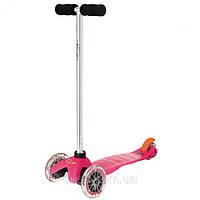 Самокат с прозрачными колесами Mini Micro Pink (Мини Микро розовый), фото 1