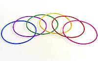 Обруч цельный гимнастический пластиковый d-75см, для детей 9-10 лет