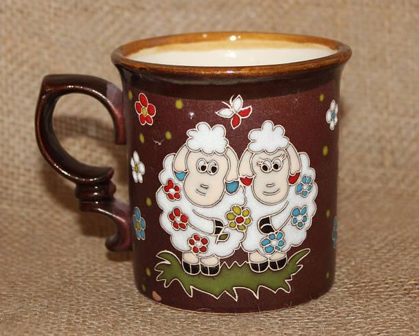 Чашка керамическая «Овечки»