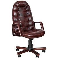 Кресло для руководителя Марракеш Экстра вишня Механизм ANYFIX Мадрас дк браун