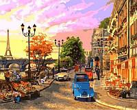 Картины по номерам 40×50 см. Закат на Сене Художник Доминик Дэвисон
