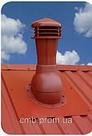 Вентиляційний вихід Wirplast 110. Не утеплений. Для профнастилу. (колір 7024), фото 1