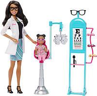 Barbie Игровой набор барби афро-американка доктор офтальмолог Careers Eye Doctor Playset