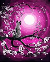 Картина по номерам 40×50 см. Луна и Кот Художник Лаура Айверсон