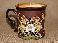 Чашка керамическая «Мельница»