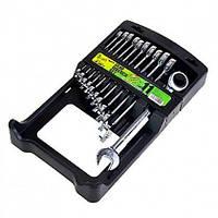 Alloid. Набор ключей комбинированных и  трещоточных, 11 предм, 8,9,10,11,12,13,14,15,16,17,19мм.(НК-2081-11)