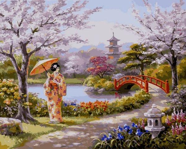 Картины по номерам 40×50 см. Утро в парке Художник Сунг Ким