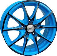 Литые диски RS Wheels 129J AUB 6.5x15/5x114.3 D73.1 ET38 (Light Blue with Black Metallic)
