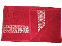 Махровое полотенце 70*130 с золотым бордюром