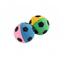 Мяч зефирный футбольный, двухцветный, 4,5 см, 1шт