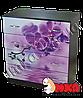 """Комод на 4 ящика (темный) с фотопринтом """"Орхидея"""""""