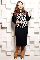 Батальное черное  платье  София ТМ Таtiana 54-60  размеры