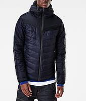 Осенняя мужская синяя куртка