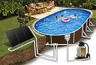 Солнечный подогрев бассейна