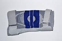 Суппорт колена, усиленный ремнями с дополнительной гелевой фиксацией