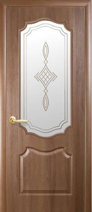 Модель Фортіс ПВХ Вільха Преміум вензель скло Р1 міжкімнатні двері, Миколаїв, фото 2