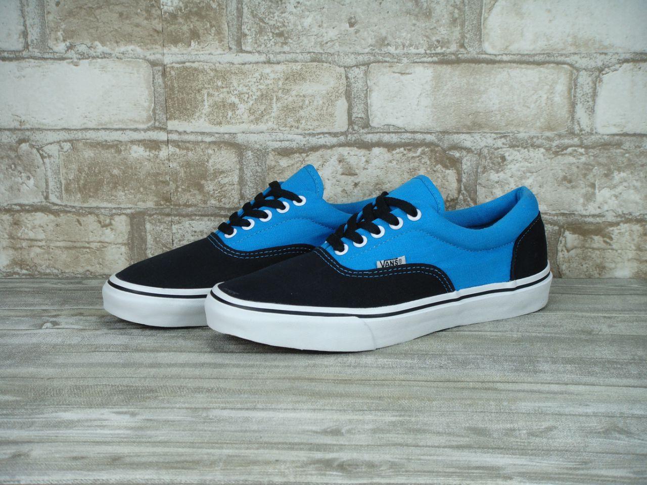 Кеды Vans Authentic Black Blue White Sole - Интернет-магазин «Reverie Shoes 65c3949338d