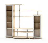 Рио 1 набор для гостиной (Мебель-Сервис) дуб самоа 1900х550х1706 мм